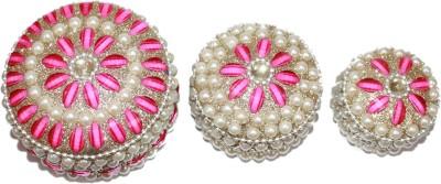 Odisha Bazaar Sindoor Dani Stone & Moti Beaded jarkan work Look Traditional Showpiece  -  7 cm