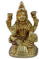 Aakrati Goddess Lakshmi Statue in Yellow Finish Showpiece  -  8 cm(Brass, Yellow)