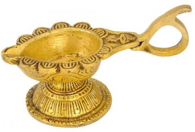 Redbag Puja Arti Diya Brass Sculpture Showpiece  -  5.72 cm