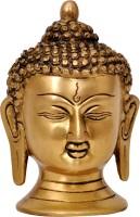 Aesthetic Decors Brass Buddha Head Showpiece  -  12.7 cm(Brass, Gold)