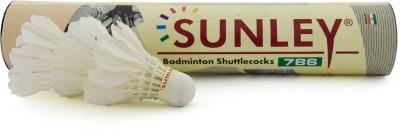 SUNLEY 786 badminton Nylon Shuttle  - White