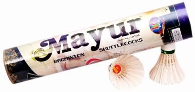 Bullwin Mayur Feather Shuttle  - White