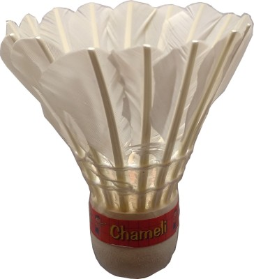 Anand's Chameli Feather Shuttle  - White