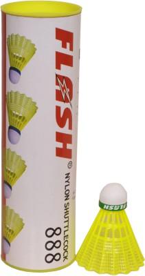 flash 888 (pack of 6) Nylon Shuttle  - Yellow