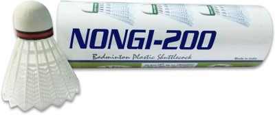Nongi A1 Plastic Shuttle  - White(Medium, 77, Pack of 5)