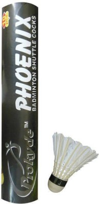 Prokyde PHOENIX 666 Feather Shuttle - White(Medium, 75, Pack of 10)