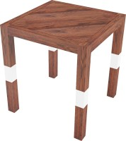 Smalshop Saw Mill Side Table Solid Wood Side Table(Finish Color - Natural Matte)