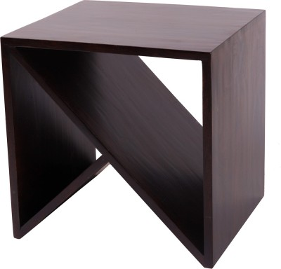 Wood Dekor Solid Wood End Table(Finish Color - Dark Brown)