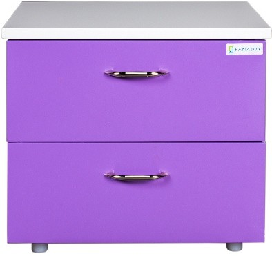View Panajoy Panajoy Metal Bedside Table(Finish Color - Lavender) Furniture (Panajoy)