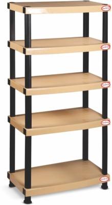 Surprise Heavy Duty Shelf 5 Plate Plastic Side Table