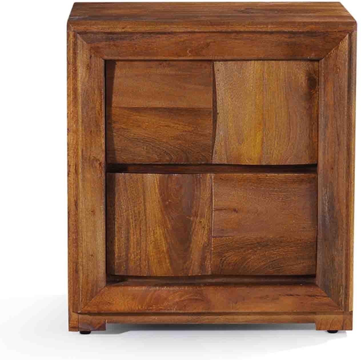 View Evok Royal Solid Wood Bedside Table(Finish Color - Dark Oak) Price Online(Evok)