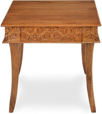@home by Nilkamal Vesta Solid Wood Side Table