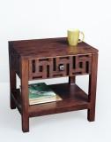 Jivan Solid Wood Bedside Table (Finish C...