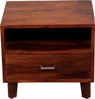 Induscraft Leepina Solid Wood Bedside Table