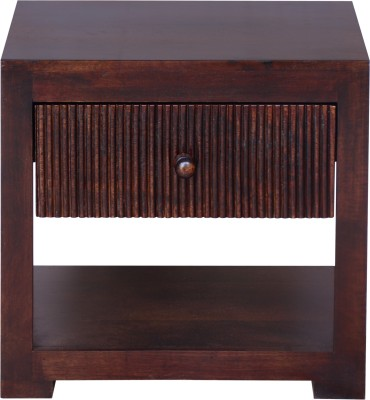 InLiving Brava Solid Wood Bedside Table(Finish Color - Warm Rich)