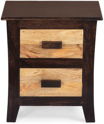 @home by Nilkamal Edge Solid Wood Bedside Table