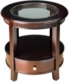 HomeTown Zina Solid Wood Side Table (Fin...