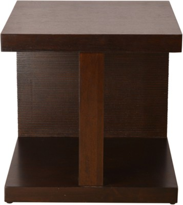 HomeTown Prestige Solid Wood Side Table(Finish Color - Brown)