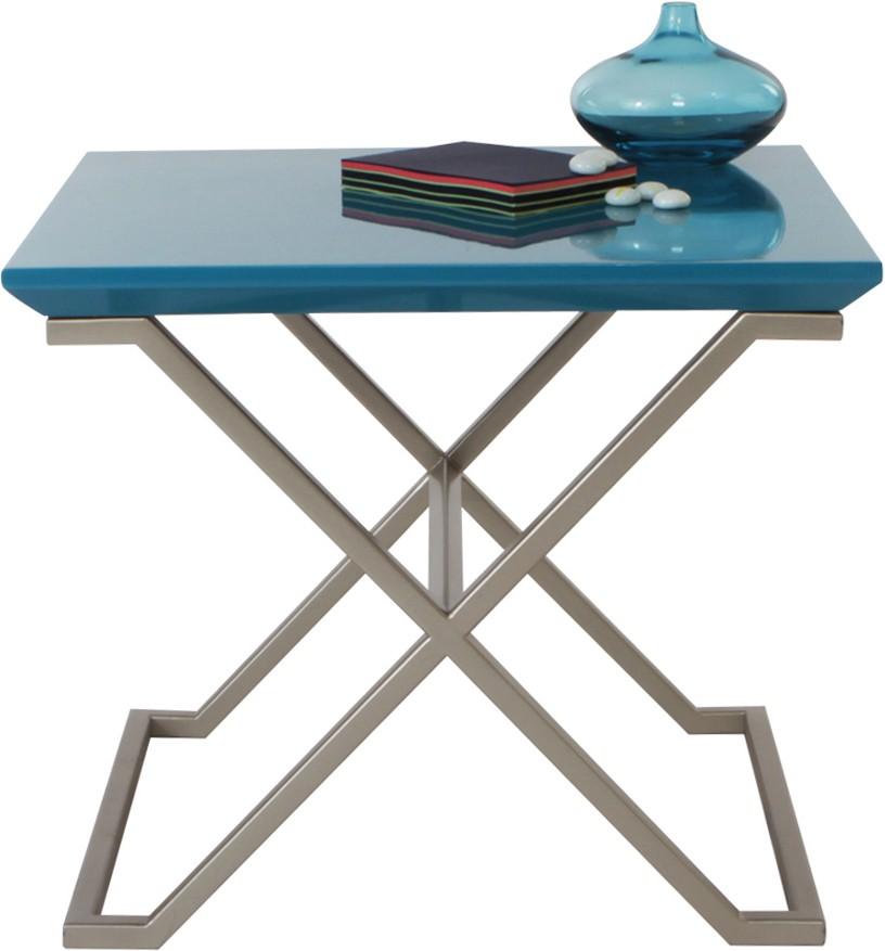View Lekiaan Engineered Wood Side Table(Finish Color - Turquoise and Light Gold) Furniture (Lekiaan)