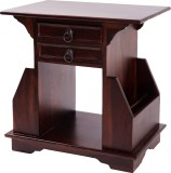 Wood Dekor Solid Wood Side Table (Finish...