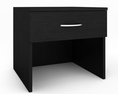 Housefull Engineered Wood Bedside Table(Finish Color - Black)