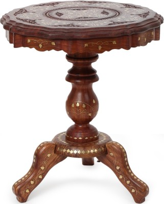 Decorhand Hand Carved Solid Wood End Table