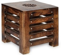 Onlineshoppee Solid Wood End Table(Finish Color - American Chestnut)