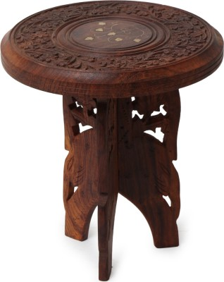 Decorhand Foldable Solid Wood End Table