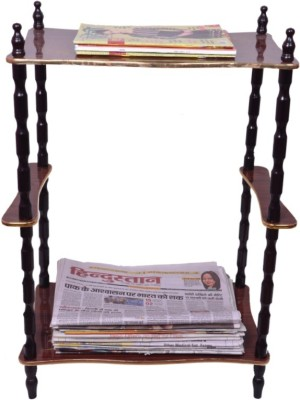 Loxia Greenwood News Paper Side Table Engineered Wood Side Table