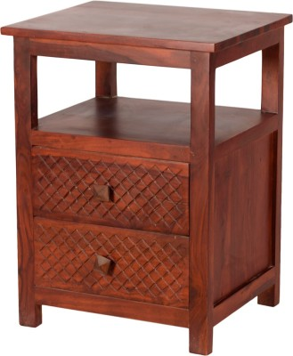 Induscraft Solid Wood End Table(Finish Color - Brown)