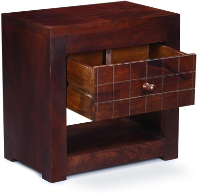 InLiving Avon Solid Wood Bedside Table(Finish Color - Warm Rich)