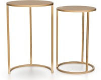 Urban Ladder Floren Metal Side Table(Finish Color - Gold)