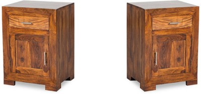 Smart Choice Furniture Rosewood (Sheesham)_JIBS11_Matte finish Solid Wood Bedside Table