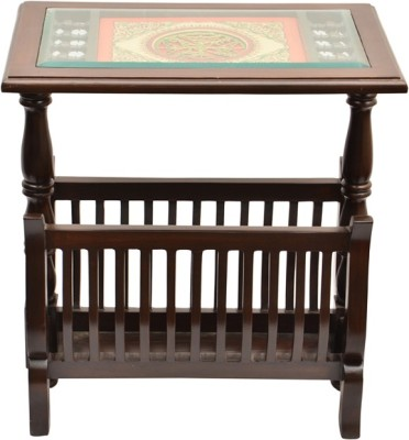 ExclusiveLane Teak Wood Solid Wood Bedside Table(Finish Color - Walnut Brown)