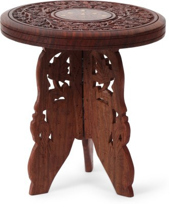 View Simran Handicrafts SHROUND Solid Wood Side Table(Finish Color - Walnut Brown) Furniture (Simran Handicrafts)