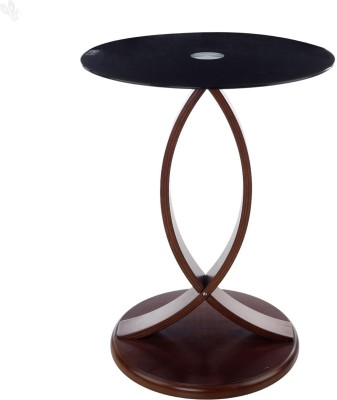 Royal Oak Astra Glass Corner Table(Finish Color - Brown)