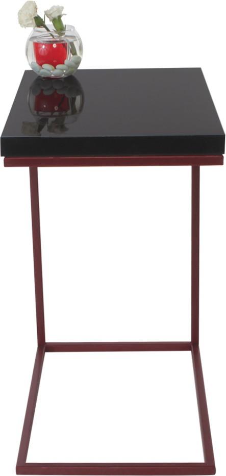 View Lekiaan Engineered Wood Side Table(Finish Color - Black and Red Blaze) Furniture (Lekiaan)