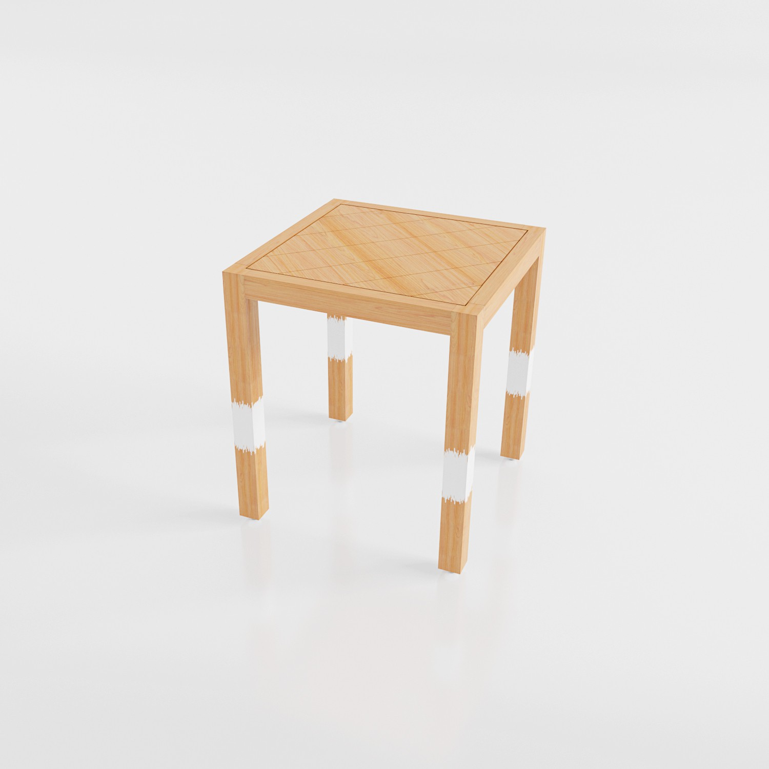 View Smalshop SawMill Pine Solid Wood Side Table(Finish Color - Natural Pine) Price Online(Smalshop)