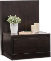 Durian WILSON/NT/B Solid Wood Bedside Table(Finish Color - Wenge)