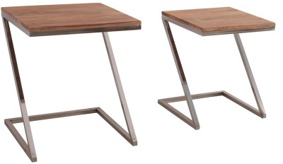 7 Homes Z shape medium and small Metal Side Table