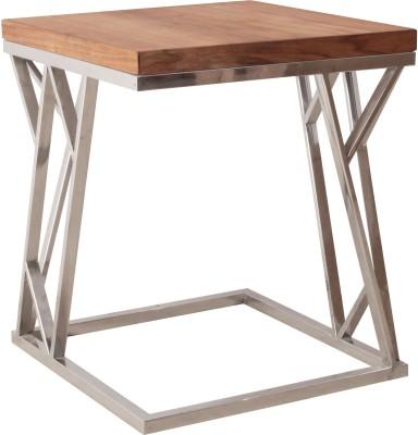 7 Homes Nasting chair in Stainless Steel Metal Side Table