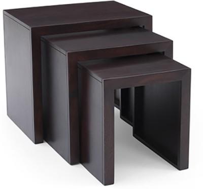 Urban Ladder Hamilton Solid Wood Side Table(Finish Color - Mahogany)