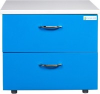 Panajoy Panajoy Metal Bedside Table(Finish Color - Blue)