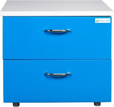 View Panajoy Panajoy Metal Bedside Table(Finish Color - Blue) Furniture (Panajoy)