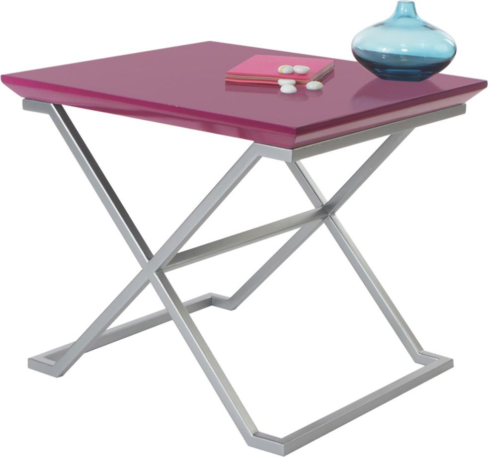 View Lekiaan Engineered Wood Side Table(Finish Color - Berry and Silver) Furniture (Lekiaan)