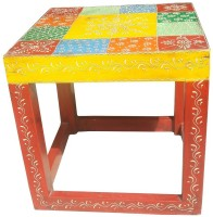 Asian Furniture AAE F Solid Wood Side Table(Finish Color - Painted)