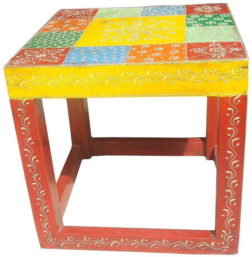 View Asian Furniture AAE F Solid Wood Side Table(Finish Color - Painted) Furniture (Asian Furniture)