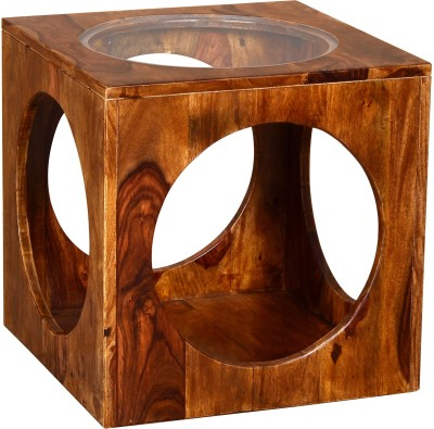 Ringabell Solid Wood End Table(Finish Color - Rich Honey)