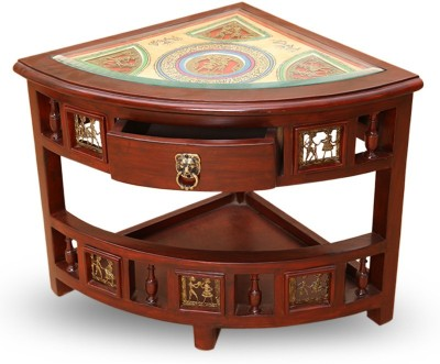 ExclusiveLane Teak Wood Solid Wood Corner Table