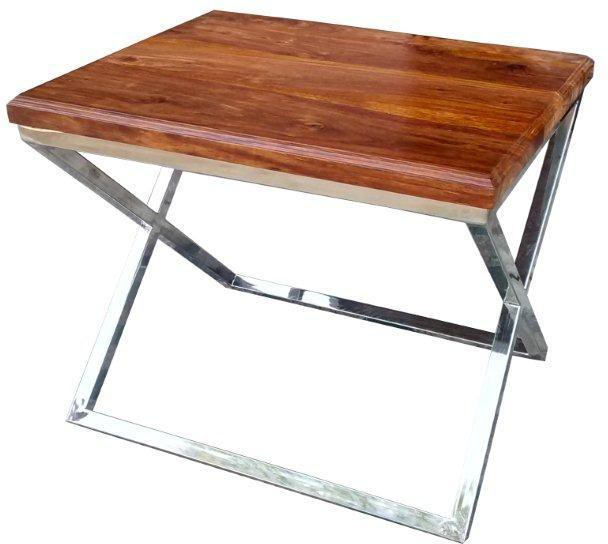 View Moukthika U1015 Solid Wood Side Table(Finish Color - Walnut Brown) Furniture (Moukthika)
